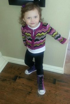 Love my daughters outfit today.Toddler fashion #converse
