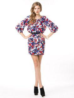 Yumi Kim - silk flower print peplum style skirt