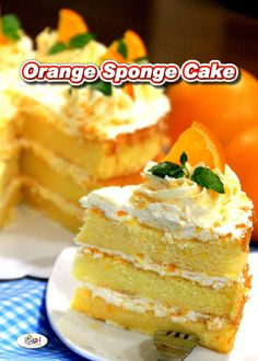 Our Orange Sponge Cake Recipe is light, moist, delicately flavored and very delicious. It is also rich in Vitamin C and antioxidant. via @filipinorecipes Filipino Dishes, Filipino Desserts, Orange Sponge Cake, Orange Cakes, Pastry Recipes, Cooking Recipes, Sponge Cake Recipes, Cake Flour, Dinner Recipes