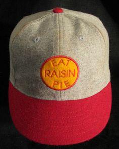 1929 Eat Raisin Pie baseball team cap by The Ideal Cap Co.