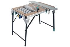 Working table with support for hand circula saw and hand router adapter (multi-tool table)