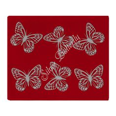 Cute Chic Butterfly Throw Blanket