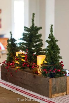 Bring in the cozy & comfy vibe in your holiday home decor. Here are the best Farmhouse Christmas decorations, which are country style Rustic Christmas decor Christmas Table Centerpieces, Tabletop Christmas Tree, Small Christmas Trees, Elegant Christmas, Outdoor Christmas, Christmas Home, Xmas Decorations, Tree Centerpieces, Christmas Ideas