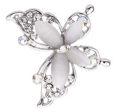 New Fashion Clear Crystal sterling silver jewelry  Butterfly Brooch Pin Jewelry For Women Free Shipping-in Brooches from Jewelry on Aliexpress.com | Alibaba Group