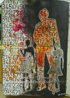 art journal page by Caroline Duncan ~ stampingsandinklings.blogspot.com Dylusions Dyan Reaveley