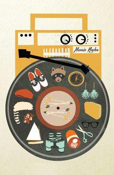 Moonrise Kingdom inspired album art #music #albumart #coverart