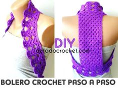 Todo crochet Crochet bolero patterns ⭐⭐⭐ Step by step Crochet Bolero Pattern, Crochet Baby Poncho, Crochet Beach Dress, Baby Hat Knitting Pattern, Crochet Diy, Crochet Coat, Crochet Blouse, Crochet Clothes, Crochet Bikini