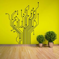 CIRCUIT TREE contempory wall art sticker decal in Home, Furniture & DIY, Home Decor, Wall Decals & Stickers | eBay