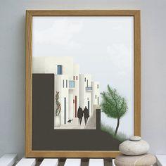 Art Print, Wall Art, Digital Art Poster, Digital Art Print, Greek islands, Road Section, Wall Decor, Cycladic Architecture,INSTANT DOWNLOAD. Greek Mythology Art, Greek Islands, Aphrodite, Nursery Art, Wall Art Prints, Digital Art, Wall Decor, Posters, Illustrations