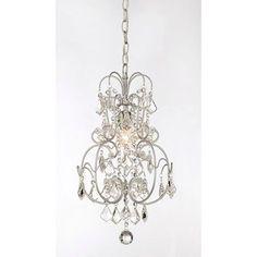Vintage Silver Crystal Chandelier > $89.00 Sparkling Crystals, One Light - http://ynueco.net/vintage-silver-crystal-chandelier-89-00-sparkling-crystals-one-light/