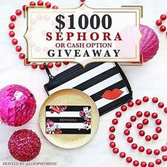Go to ----> @alissa9399 NEXT! . . Hi Friends!! I've teamed up with some great Instagram ladies to give you 1000 reasons to smile! We are super excited to give one of you a $1000 gift card to #SEPHORA -or- $1000 #CASH! You choose! #Tistheseason So whose ready to have some fun?!  . All you have to do is enter for your chance at winning it all by following these 3 simple steps below!  . 1.) Follow me. We double check!  2.) Like this post. This is how we see your entry.  3.) Follow  @alissa9399…