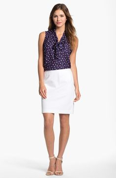 Olivia Moon Tie Neck Sleeveless Blouse available at #Nordstrom