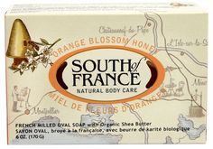South of France French Milled Oval Soap Orange Blossom Honey