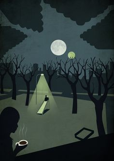 "Murakami Haruki's ""1Q84"" by Benedetto Cristofani, via Behance"
