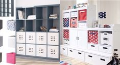 Instead of different sized & types of storage furniture – a single taller piece will store a lot of toys & make any room look great. A simple way to keep your home tidy with kids of a… Toy Storage, Locker Storage, Childrens Bedroom, Shelves, Cabinet, Toys, Simple, Furniture, Home Decor
