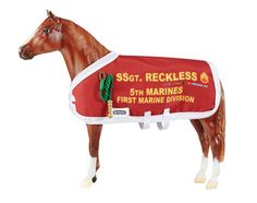 Breyer, maker of model horses, has introduced a model of Sergeant Reckless. A portion of the proceeds from each sale will be donated to the Sgt Reckless Memorial Fund to help support efforts to create a permanent memorial in honor of her efforts.