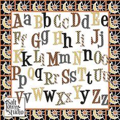 Scrapbooking TammyTags -- TT - Designer - Salt Town Studio,  TT - Item - Alphabet, TT - Theme - Halloween