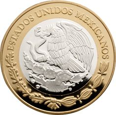 Numismatic Legacy of México Series II, bimetallic, Banco de MéxicoII