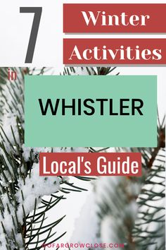 Whistler is known for its amazing skiing and snowboarding. However, it has so many other Whistler winter activities. Here are the seven best from a local. Quebec, Travel With Kids, Family Travel, Vancouver, Toronto, Outdoor Ice Skating, Canada Destinations, Village Photos, Canadian Travel