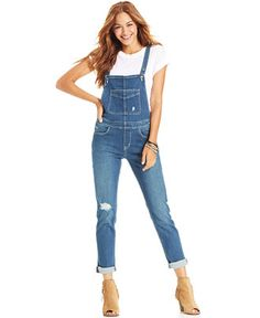 8635b8f9bb2d Levi s® Juniors  Skinny-Leg Overalls - Juniors Jeans - Macy s Juniors Jeans