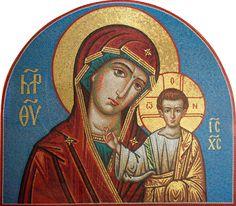 Роспись храмов, мозаика, иконопись.: Мозаика Казанская Пресвятая Богородица