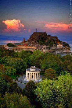 Old fortress in Corfu