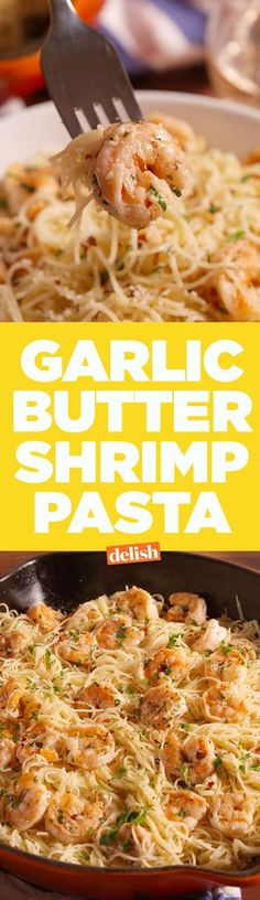 Garlic Butter Shrimp Pasta  - Delish.com