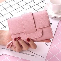 2017 New Luxury Soft Leather Women Hasp Wallet Fashion Tri-Folds Clutch For Girls Coin Purse Card Holders Female Blue Money Bag Coin Purse Wallet, Coin Purses, Dance Accessories, Purse Holder, Purse Brands, Womens Purses, Credit Cards, Wallets For Women, Soft Leather