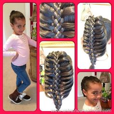 Black kids hairstyles: Braids for girls Black Kids Hairstyles, Kids Braided Hairstyles, Princess Hairstyles, Cute Hairstyles, Toddler Hairstyles, Braids For Kids, Girls Braids, African American Hairstyles, Natural Baby