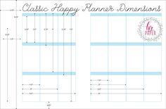 Classic Happy Planner Dimensions