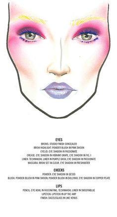 M.A.C Cosmetics, Halloween, Effie Trinket from the The Hunger Games. Inspiration for munchkin cheeks and pinks.