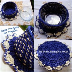 BOWL COVER  - CROCHETED WITH T-SHIRT YARN