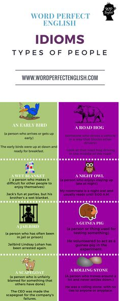 Idioms Types of People 2/2 Mais