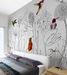 Chinoiserie – Graffiti World Bedroom Murals, Bedroom Wall, Bedroom Decor, Mural Wall Art, Diy Wall Art, Painted Wall Murals, Wall Décor, Chinoiserie, Wall Drawing