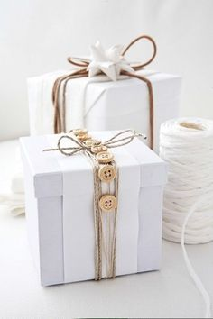 Buttons - gift wrap idea