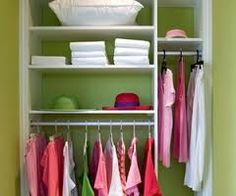Closets can be tricky.  If you are selling a vacant home add a few items to an empty closet that add visual interest.  Remove all items from the floor and top shelf and keep it simple.  Be sure to keep with the theme of the room it services (Don't put bath towels in the pantry).