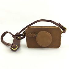 NWOT MADEWELL  CAMERA CLUTCH CROSSBODY PURSE $98 IN BROWN LEATHER