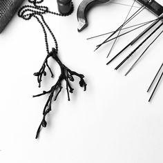 """From The forest"" pendant / unique / Necklace / oxidized silver / Jewellery / art / uniquejewellery / craft / danish / minimalistic / jeweller / Copenhagen"