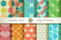 Check out 20 Retro Striped Seamless Patterns by Patternalized on Creative Market