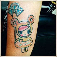 It's Tattoo Tuesday! Check out this cute Donutella tattoo by Billy C!    Share your tokidoki ink with us by sending your photos to inked@tokidoki.it