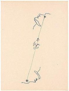 Artwork by Jean Cocteau, cocteau. les 25 dessins d'un dormeur