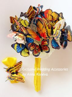 Hey, I found this really awesome Etsy listing at https://www.etsy.com/listing/207078587/unusual-bouquet-of-butterflies-bridal