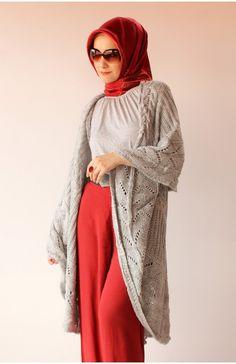 Baharlık Triko Panço, karaca butik, panço, tesettür panço, yazlık panço, lacivert, hijab, red, navy, poncho