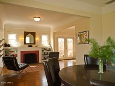 Dinning room, Living room, french doors