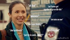 Waverly's inner dialogue when crossing path with Nicole