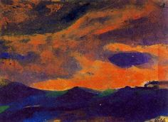 Emil Nolde - Dark Sea with Brown Sky