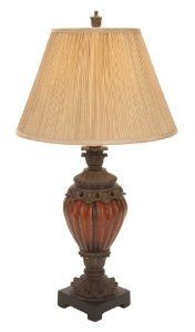 "Polystone Glass Table Lamp 34""h by bombayjewel. $151.51. Polystone Glass Table Lamp 34""h"