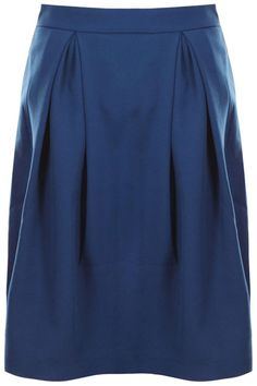 Zippered Pleated Blue Skirt