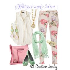 """""""Flowers and Mint"""" by countess-flower on Polyvore"""