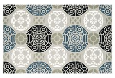 Bleeker Rug, Gray/Black on OneKingsLane.com
